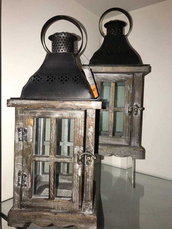 Wood and Metal nesting lantern