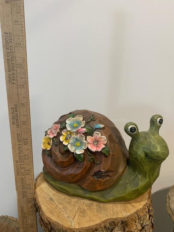 Snail- Flowers on Shell