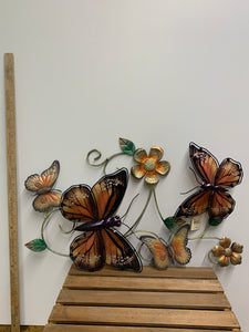 Hanging Orange Butterfly Wall Decor