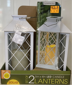 Set of 2 Solar Powered Lanterns