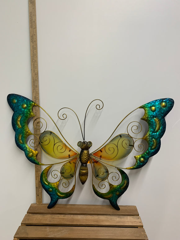 Blue and Orange Metal Butterfly