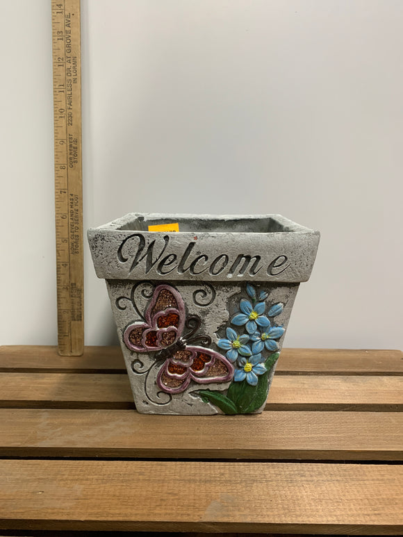 Welcome Flower Pot