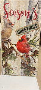 "Holiday Cardinal Room 3' ""Season's Greetings"""