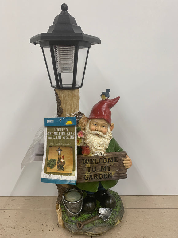 Lighted Welcome Gnome