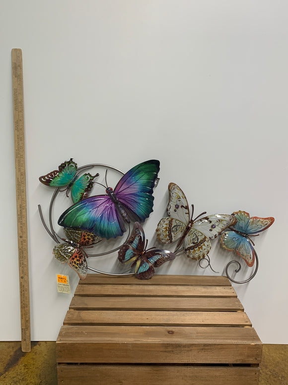 Hanging Blue Butterfly Wall Decor