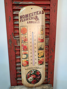 Metal decorated thermometer