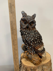 Owl- Great Horn White Spots