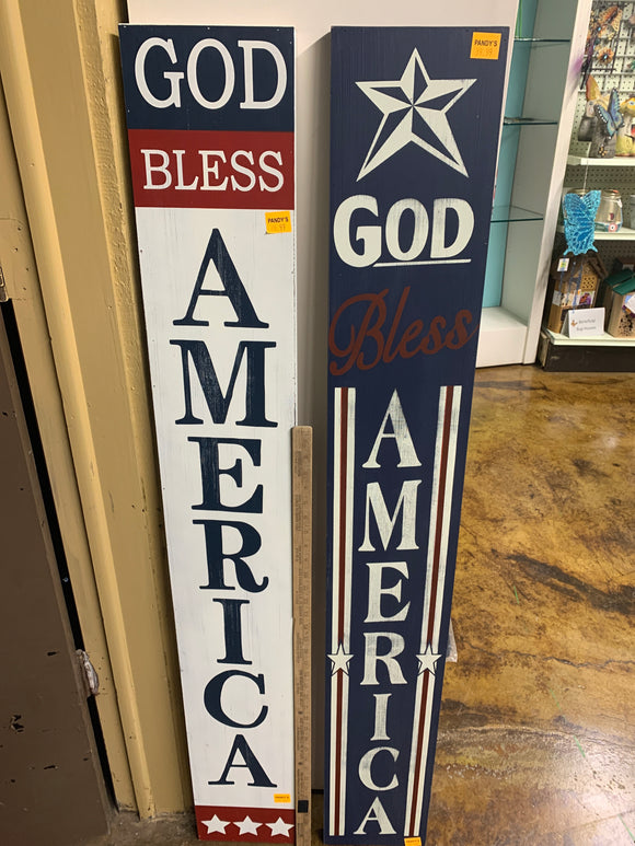 Sign: God Bless America