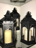 LED flameless lantern with timer