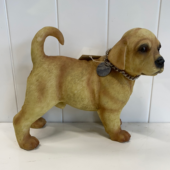 Puppy yellow lab statue