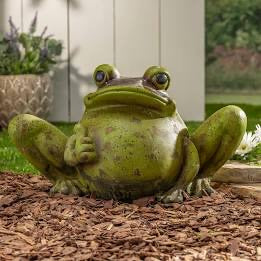 Antiqued Magnesium Frog