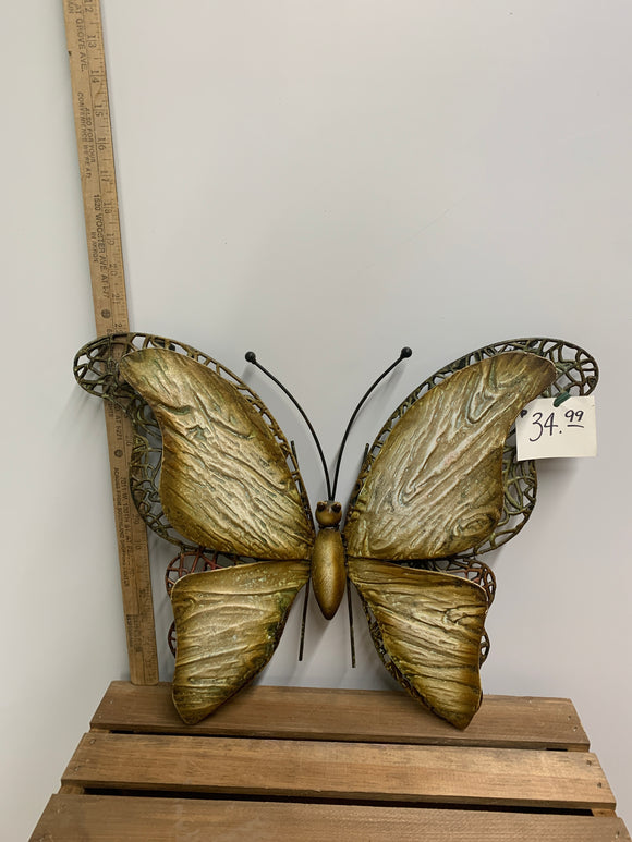 Metal Wood Winged Butterfly