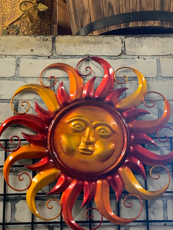 Red, Orange, Yellow Sun Face