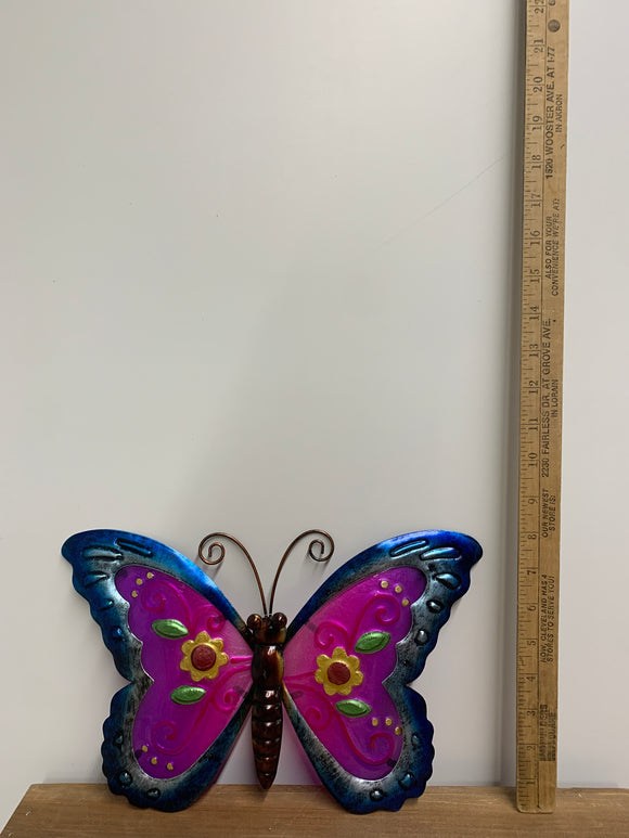 Blue and Purple Metal Butterfly