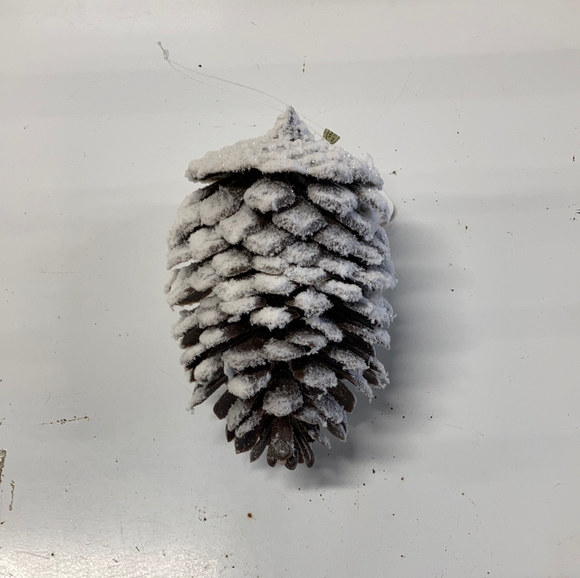 Holiday Frosted Pine Comb Ornament