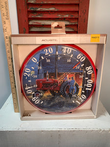 Tractor themed clock