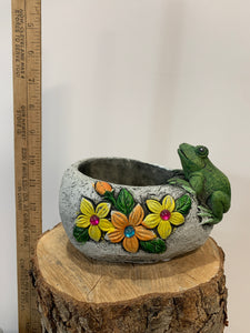Flower Pot With Frog