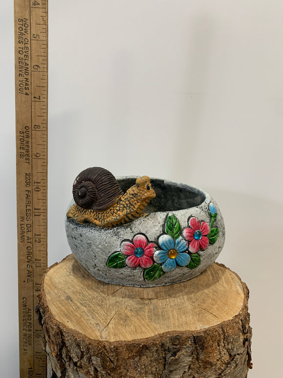 Flower Pot With Snail