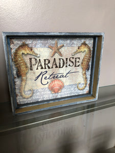 Paradise Retreat Sign