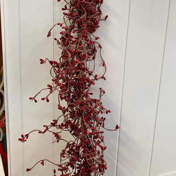 4ft red branch garland