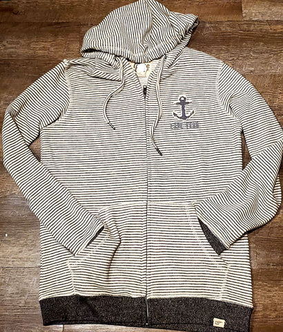 Cape fear Stripe Zip up w/ Anchor