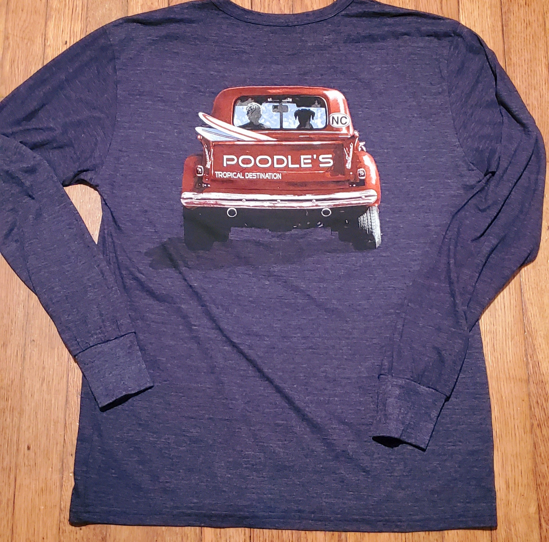 Poodle's Red Truck Long Sleeve