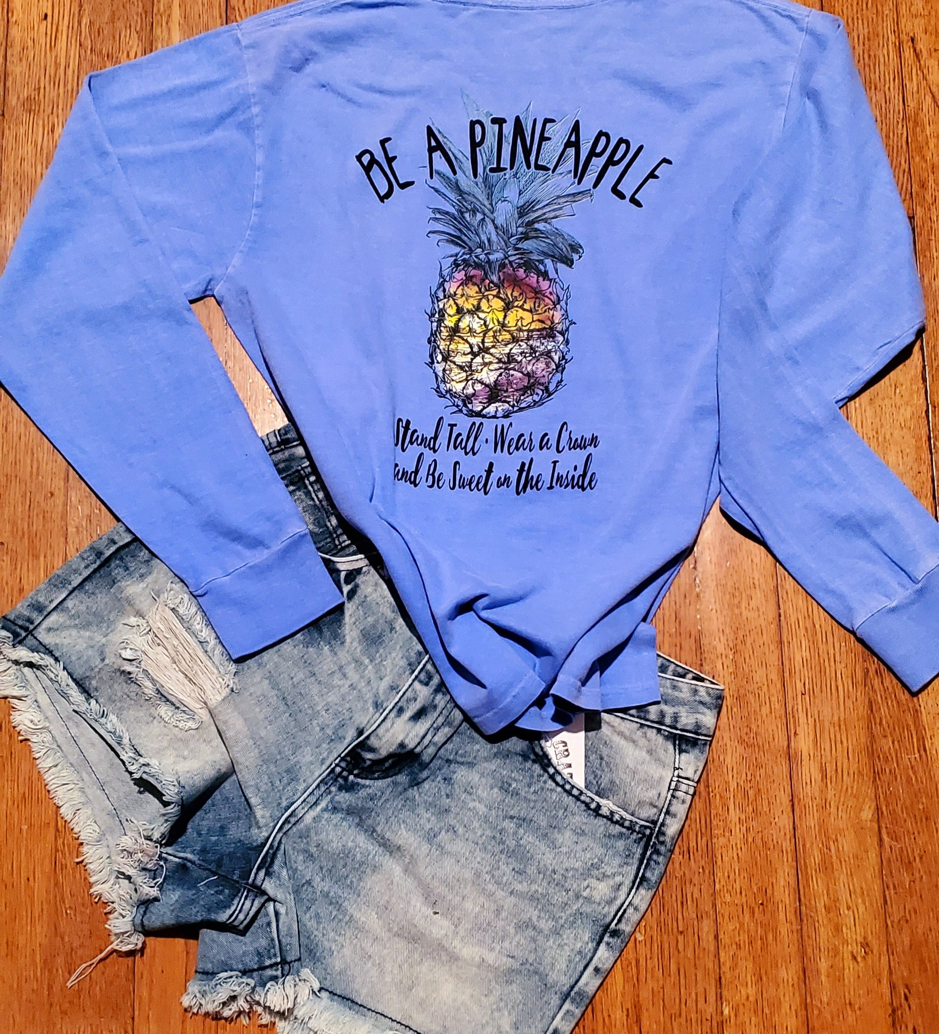Stand Tall Pineapple Lobg Sleeve Tee