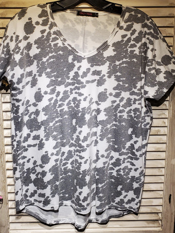 Cow Girl print w/Vneck