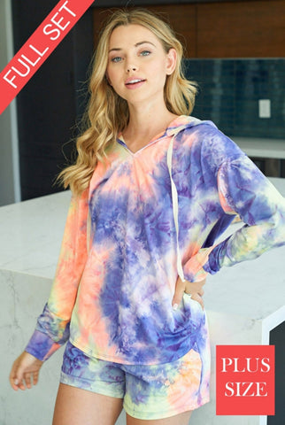 Plus Size Tye Dye Super Soft Set