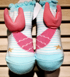 Pink Infant Mermaid Socks
