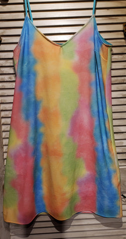 Tie Dye Tank Dress w/Pockets