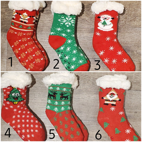 Kids Holiday Sherpa Socks