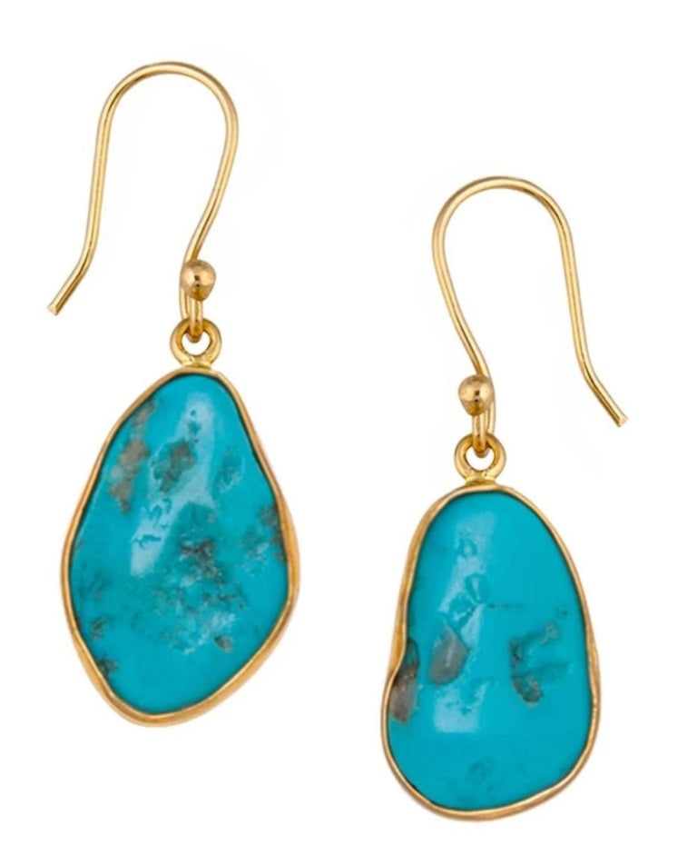 Alchemia Sleeping Beauty Turquoise Free-form Drop Earrings
