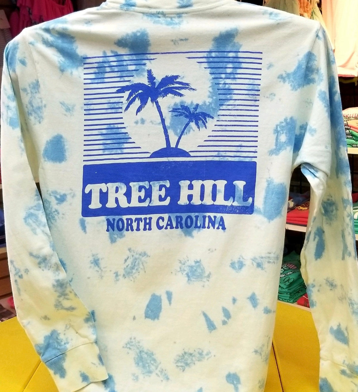 Cloud Dyed Tree Hill Long Sleeve Tee