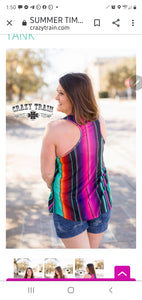 Summer Time Serape Tank