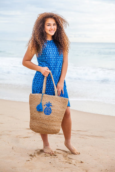 Blue Hawaii Cotton Dress