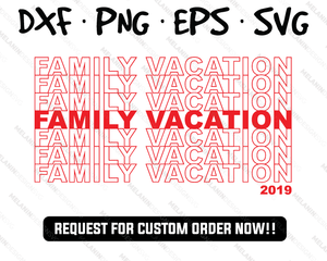 family vacation shirt free svg