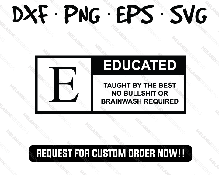 Educated svg
