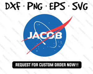 Jacob - NASA Inspired College Designs SVG PNG DXF EPS Instant Download free svg