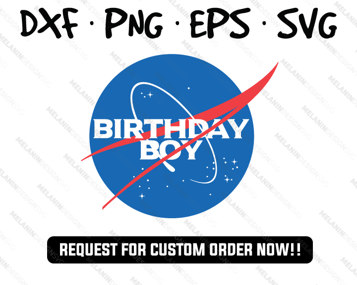 Birthday boy shirt nasa logo svg