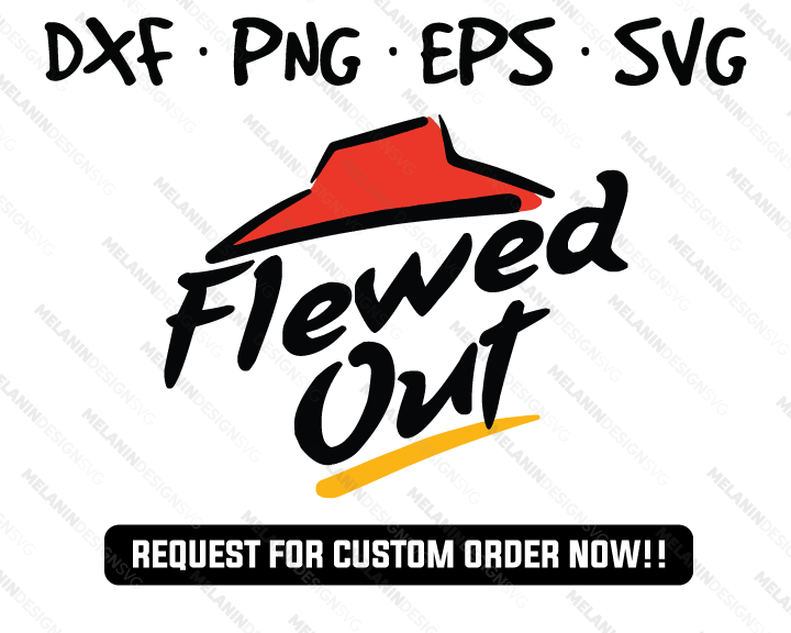 flewed out pizza hut svg