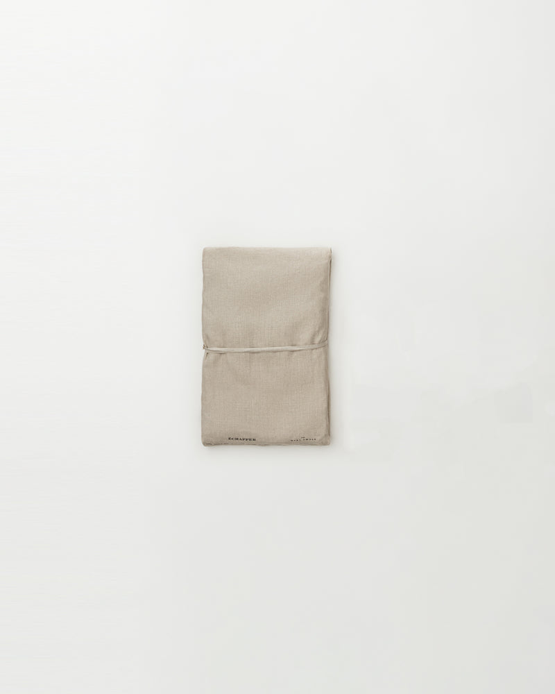 Raw smooth linen duvet cover