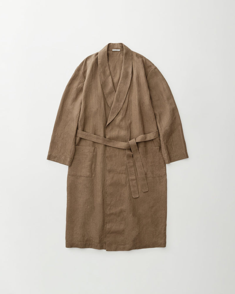 Raw_smooth_linen_robe_brown