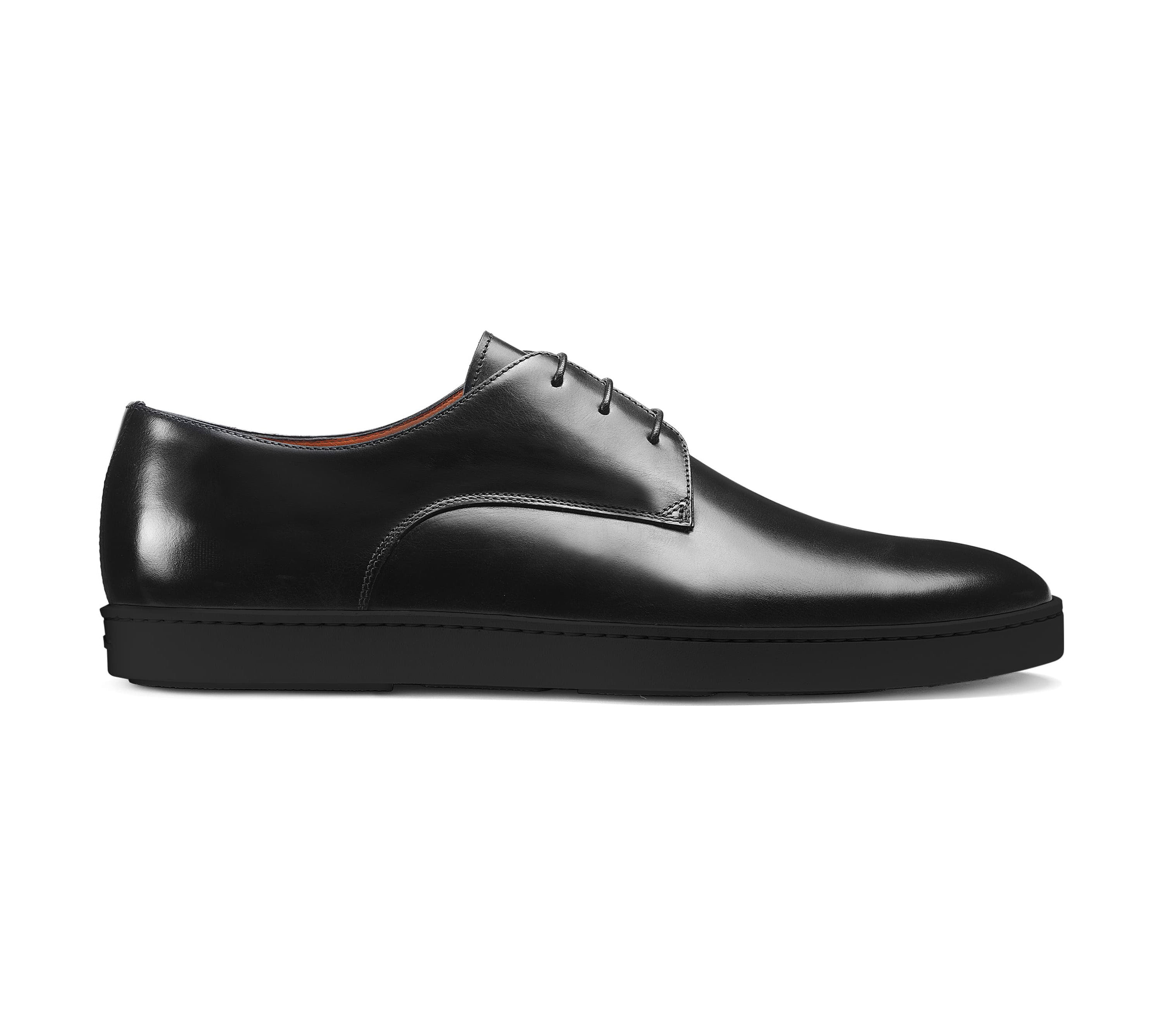 Black Formal Derby Lace Up Sneaker for Men. Black Comfortable Cup Sole.