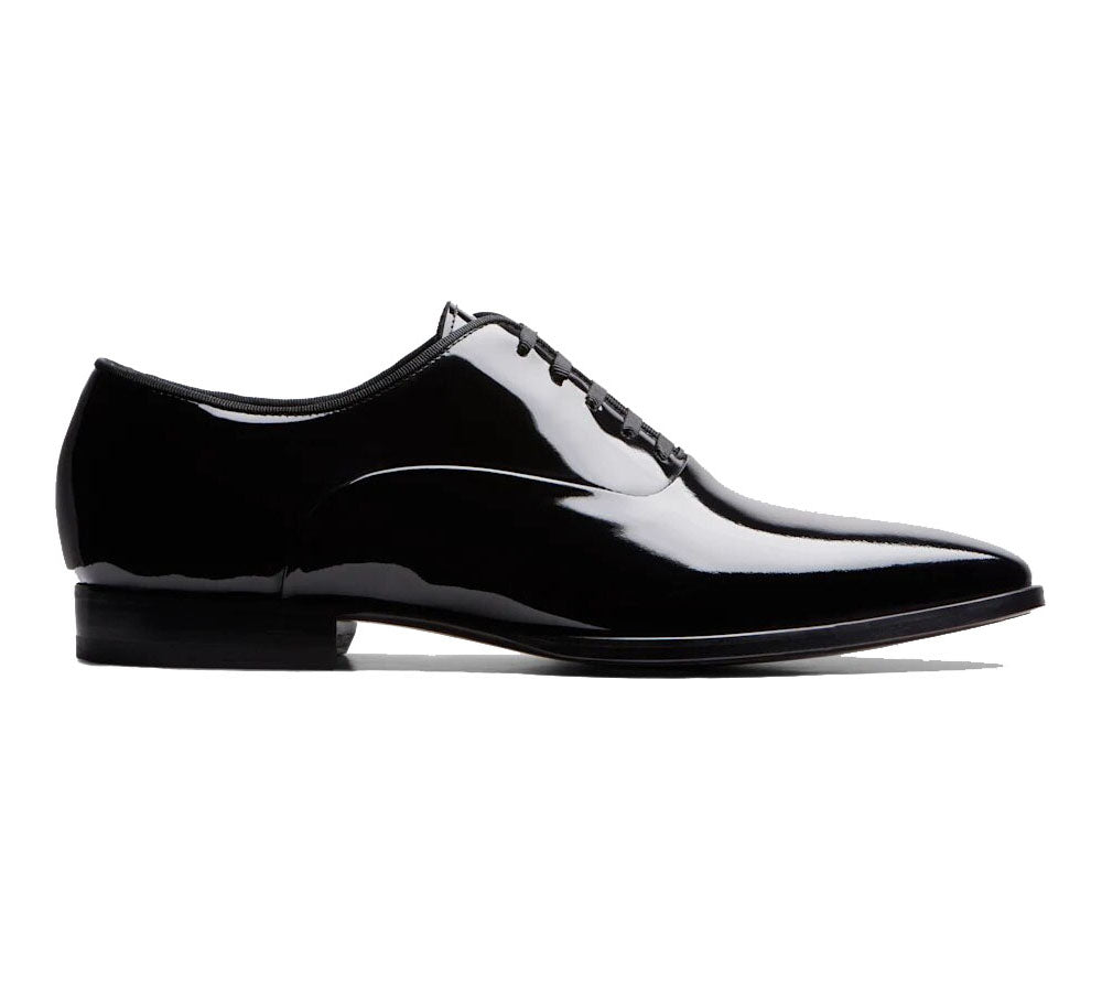 Black Patent Leather Formal Oxford Lace Up Shoes for Men. Manmade Comfortable Sole. Customization Available.