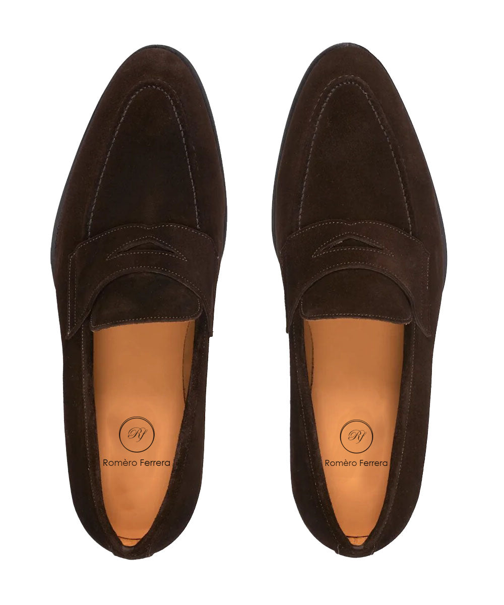Derek Dark Brown Penny Loafer - Romèro Ferrera