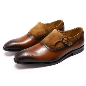 Burke Tan Single Monk Strap - Romèro Ferrera