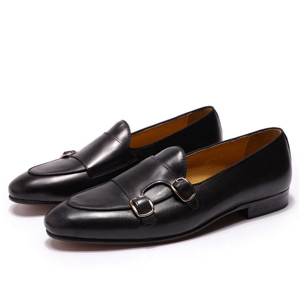 Thomas Black Monk Strap Loafer - Romèro Ferrera
