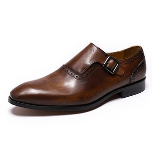 Zack Brown Single Monk Strap - Romèro Ferrera