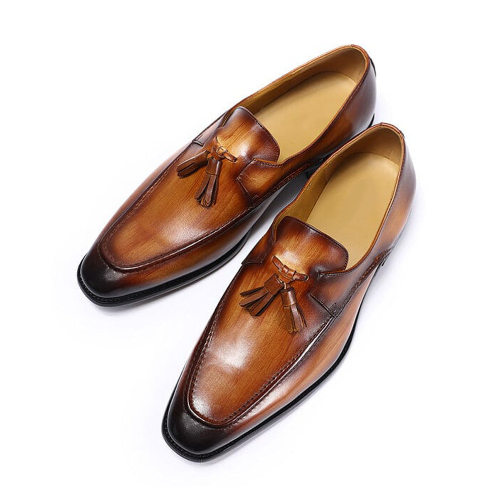 Ryan Tan Tassel Loafer - Romèro Ferrera